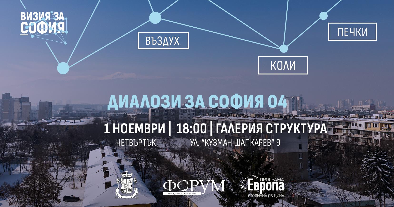 Диалози за София 04: Въздух, печки и коли